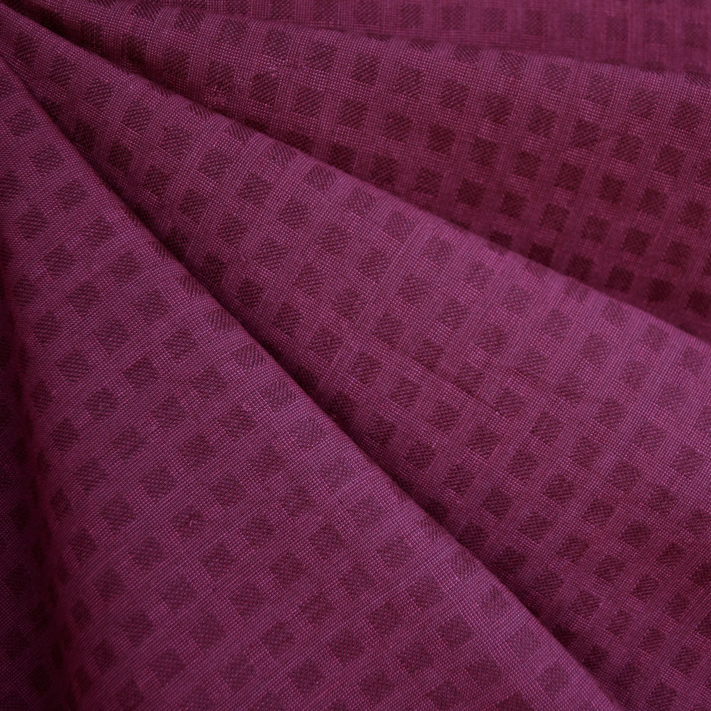 Woven Shirting Plaid Texture Berry—Preorder - Fabric - Style Maker Fabrics