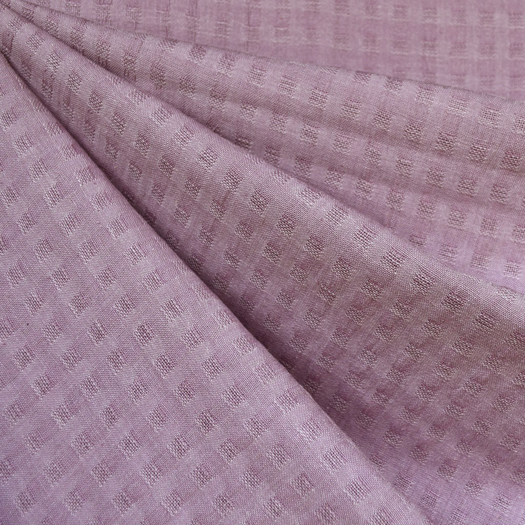 Woven Shirting Plaid Texture Lilac SY - Sold Out - Style Maker Fabrics