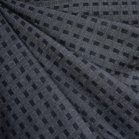 Woven Shirting Plaid Texture Charcoal/Black