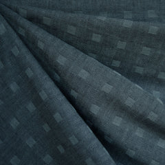 Woven Shirting Checkerboard Texture Dark Teal - Sold Out - Style Maker Fabrics