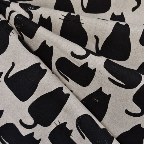 Home Cat Silhouettes Canvas Black/Natural