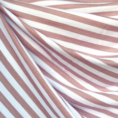 Even Stripe Jersey French Terry Rose/Vanilla - Fabric - Style Maker Fabrics