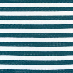 Even Stripe Jersey French Terry Teal/Vanilla - Fabric - Style Maker Fabrics