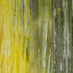 Hand Dyed Rayon Challis Olive/Citron SY - Selvage Yard - Style Maker Fabrics