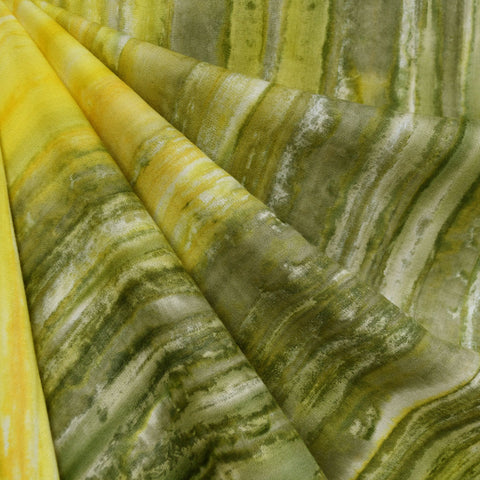 Hand Dyed Rayon Challis Olive/Citron