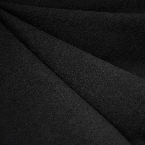 Washed Crinkle Cotton Solid Black