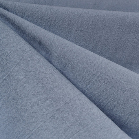 Washed Crinkle Cotton Solid Chambray—Preorder