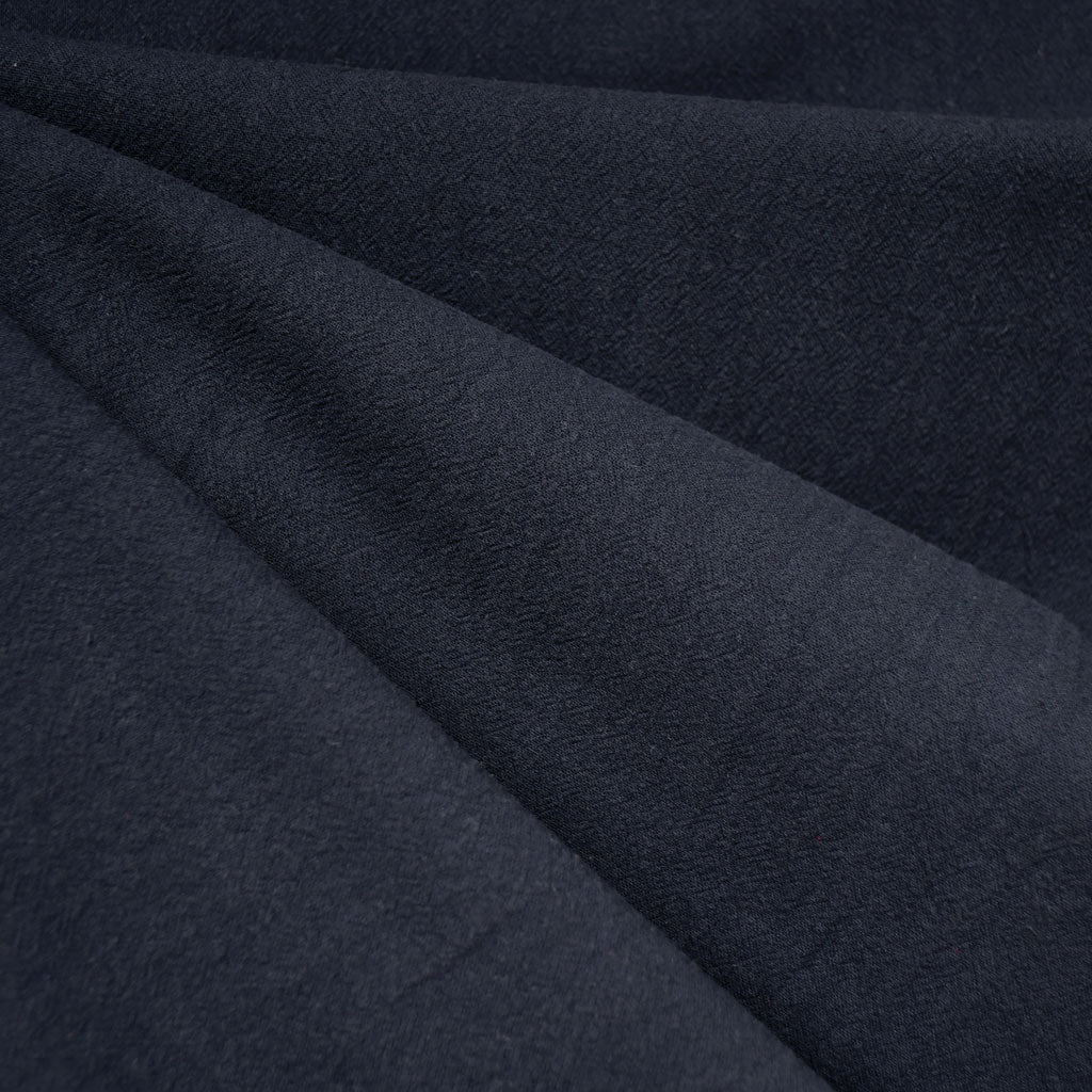 Washed Crinkle Cotton Solid Navy - Fabric - Style Maker Fabrics
