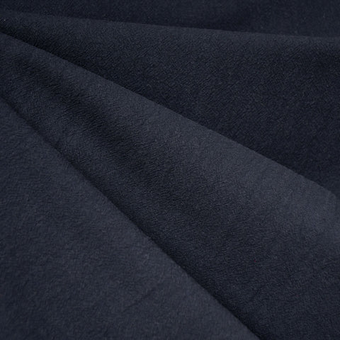 Washed Crinkle Cotton Solid Navy