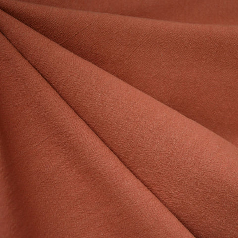Washed Crinkle Cotton Solid Rust SY
