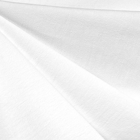 Washed Crinkle Cotton Solid White—Preorder