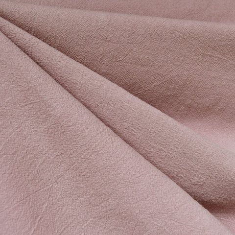 Washed Crinkle Cotton Solid Rose