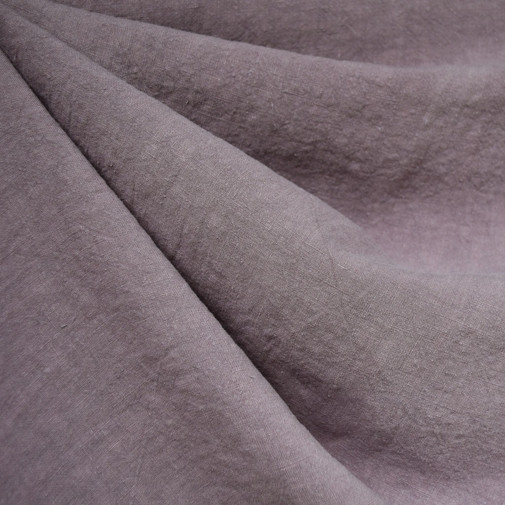 Soft Washed Linen Shirting Solid Orchid - Fabric - Style Maker Fabrics