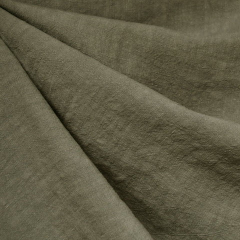 Soft Washed Linen Solid Olive