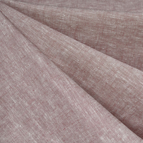 Soft Washed Linen Blend Shirting Rose