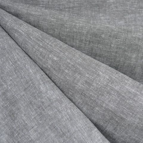 Soft Washed Linen Blend Shirting Grey
