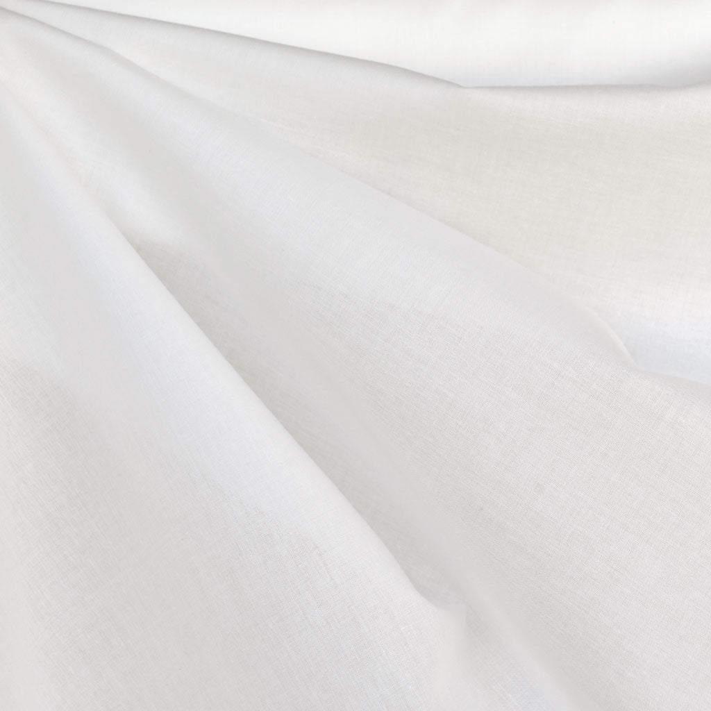 Cotton Voile Solid Winter White - Fabric - Style Maker Fabrics