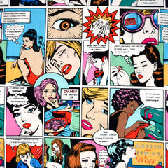 Sewing Sorrow Comic Print Cotton Multi - Fabric - Style Maker Fabrics