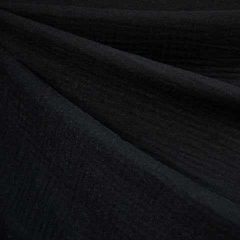 Cotton Double Gauze Solid Black