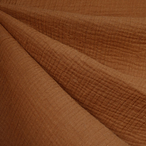 Cotton Double Gauze Solid Cinnamon—Preorder