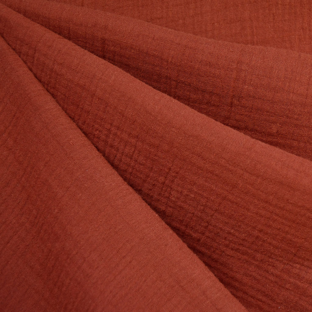 Cotton Double Gauze Solid Rust - Fabric - Style Maker Fabrics