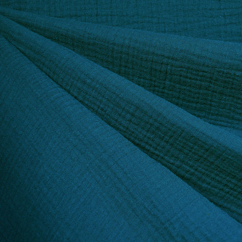 Cotton Double Gauze Solid Ocean