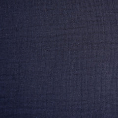 Cotton Double Gauze Solid Navy - Fabric - Style Maker Fabrics