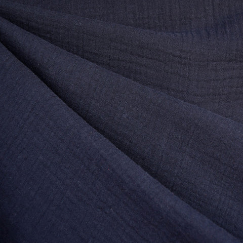 Cotton Double Gauze Solid Navy