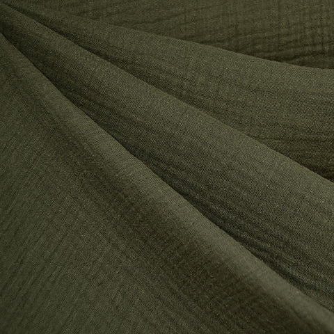 Cotton Double Gauze Solid Olive