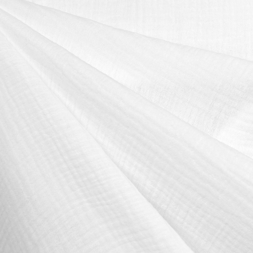 Cotton Double Gauze Solid White - Sold Out - Style Maker Fabrics