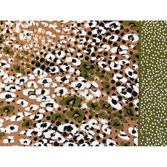 Boho Animal Print Rayon Twill Shirting Brown/Olive - Sold Out - Style Maker Fabrics