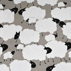 Japanese Cloud Sheep Canvas Taupe - Fabric - Style Maker Fabrics
