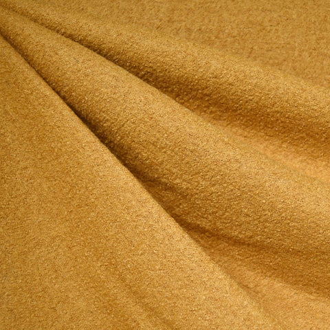 Boiled Wool Blend Coating Turmeric