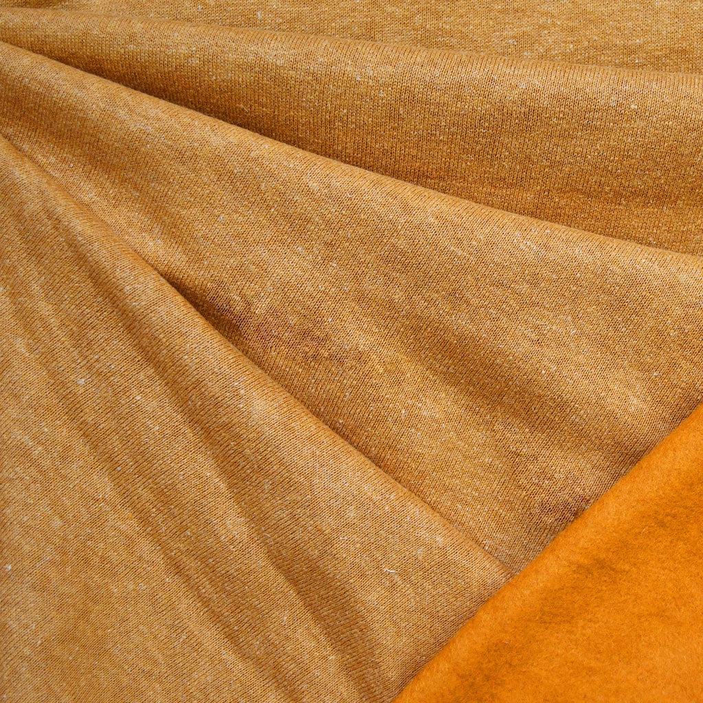 Cozy Eco Sweatshirt Fleece Solid Turmeric—Preorder - Fabric - Style Maker Fabrics