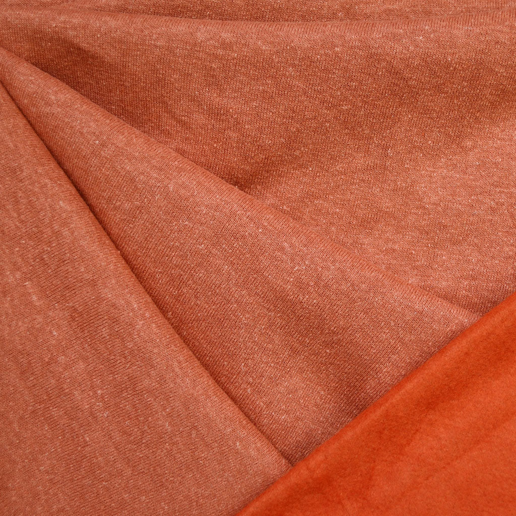 Cozy Eco Sweatshirt Fleece Solid Persimmon - Sold Out - Style Maker Fabrics