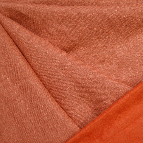 Cozy Eco Sweatshirt Fleece Solid Persimmon