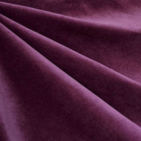 Stretch Pinwale Corduroy Solid Plum
