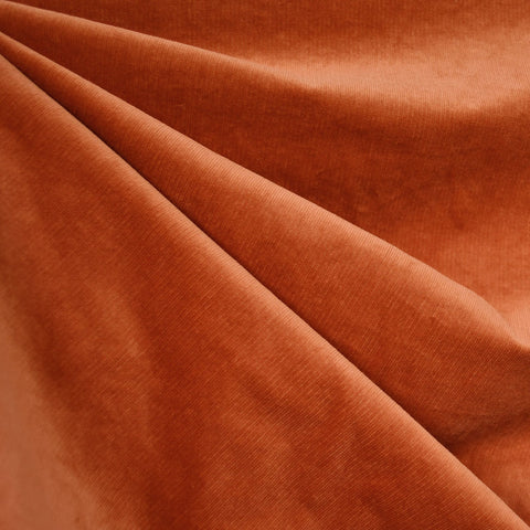 Stretch Pinwale Corduroy Solid Rust