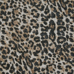 Leopard Animal Print Plush Double Knit Natural/Black - Fabric - Style Maker Fabrics