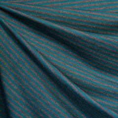 Mini Stripe Bamboo Jersey Knit Teal/Grey SY - Sold Out - Style Maker Fabrics