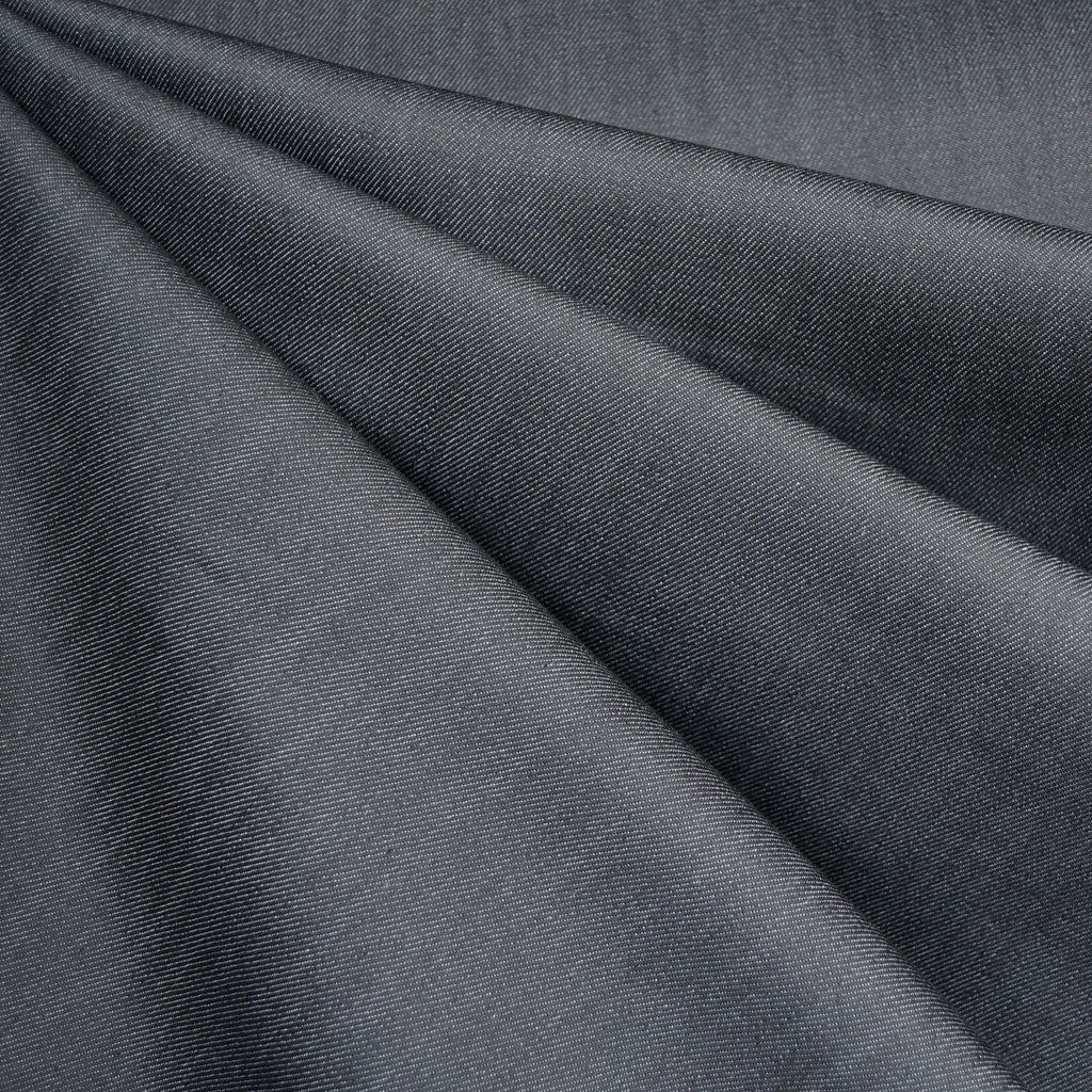 Recycled Mid Weight Stretch Denim Charcoal - Fabric - Style Maker Fabrics