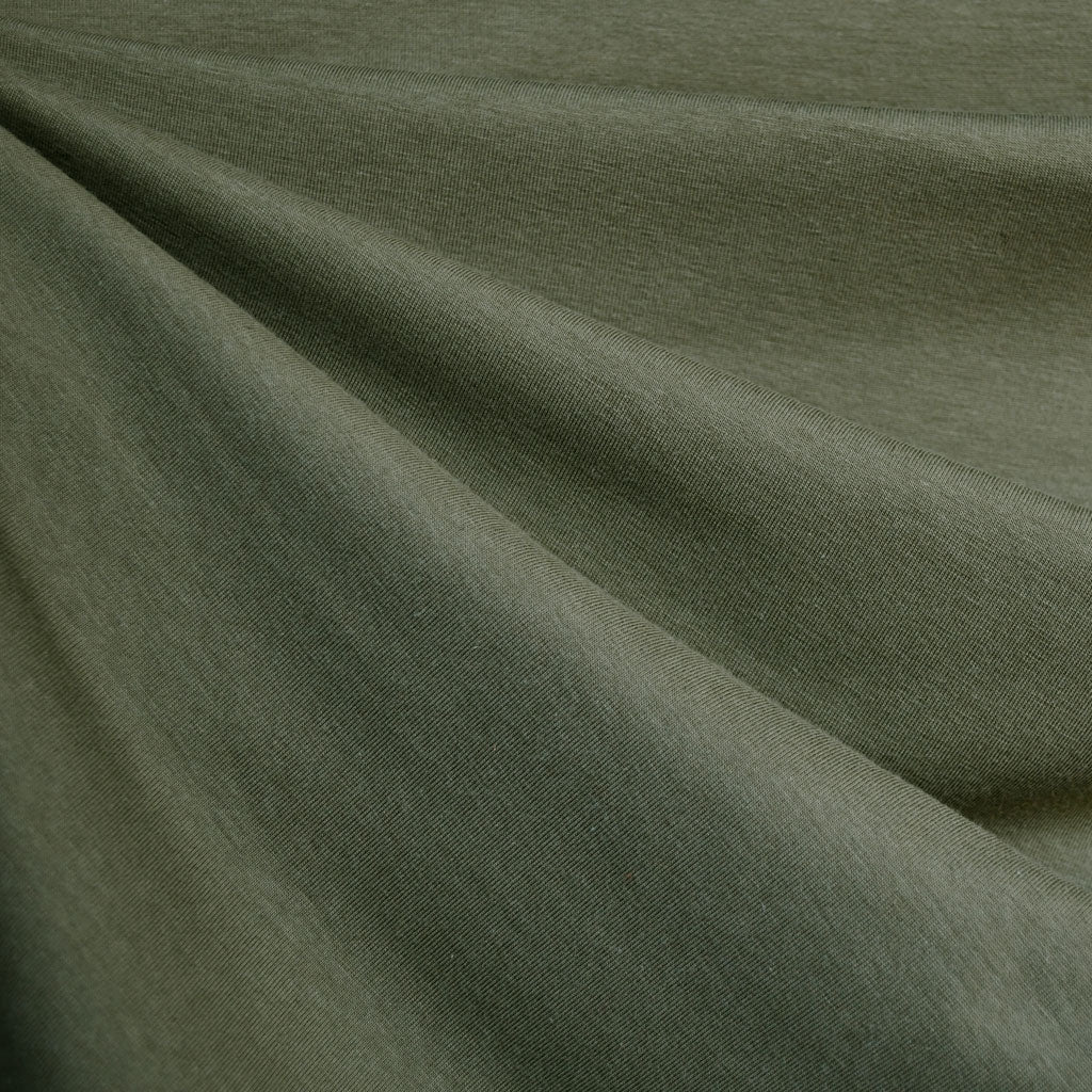 Cotton Modal Jersey Knit Solid Moss - Sold Out - Style Maker Fabrics