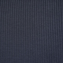 Luxury Plush Rib Sweater Knit Navy - Fabric - Style Maker Fabrics