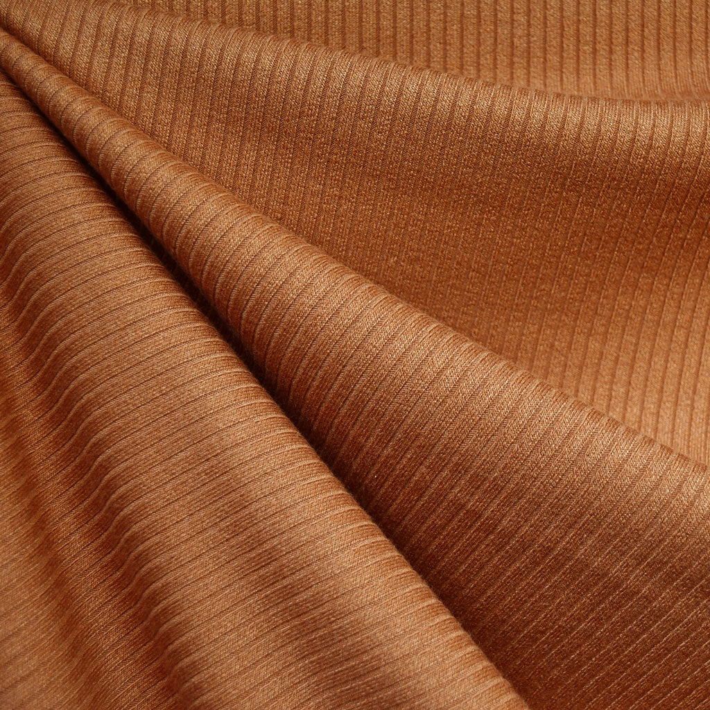 Luxury Plush Rib Sweater Knit Cinnamon - Fabric - Style Maker Fabrics