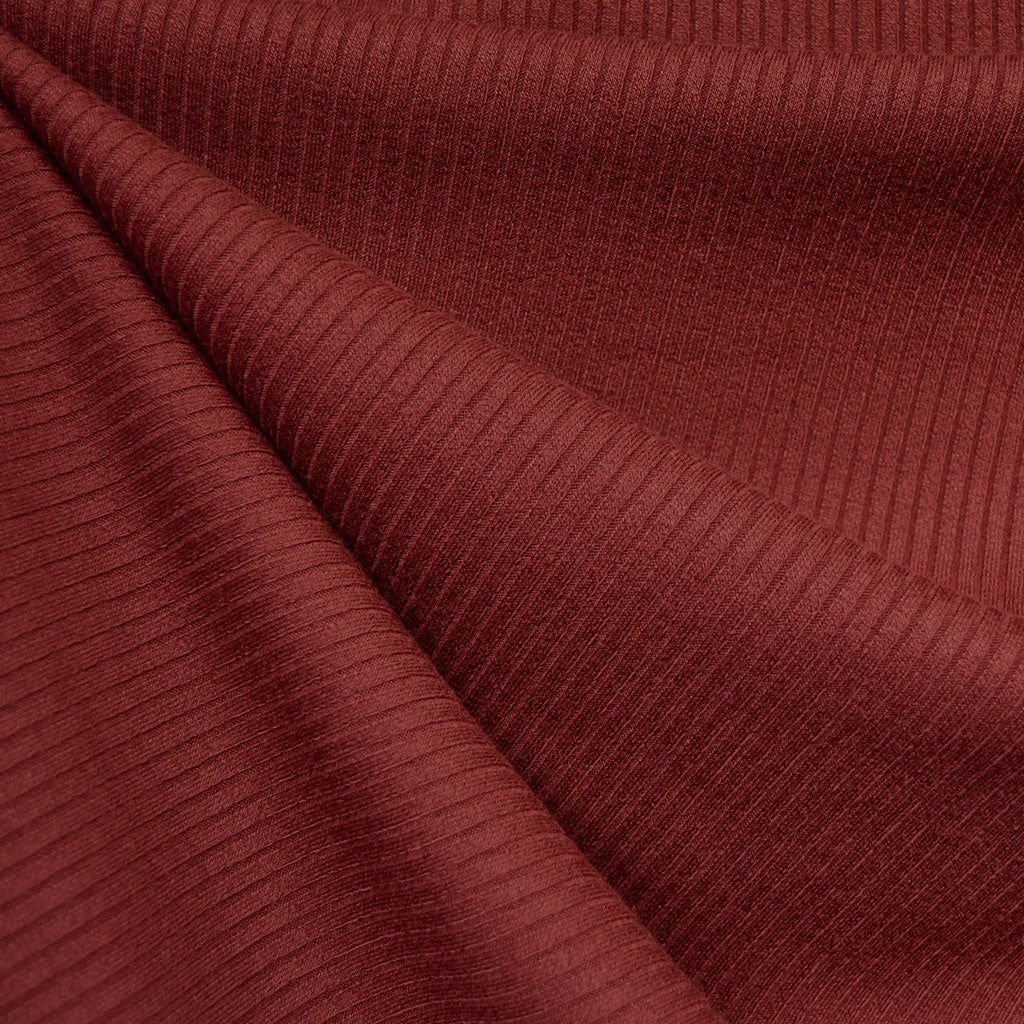 Luxury Plush Rib Sweater Knit Wine—Preorder - Fabric - Style Maker Fabrics