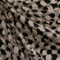 Layered Spots Animal Print Sweater Knit Taupe/Black - Fabric - Style Maker Fabrics
