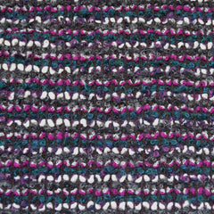 Designer Wool Boucle Knit Coating Black/Plum/Teal - Fabric - Style Maker Fabrics