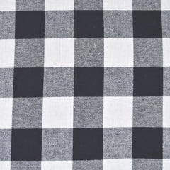 Giant Gingham Check Flannel Shirting Navy/White - Fabric - Style Maker Fabrics
