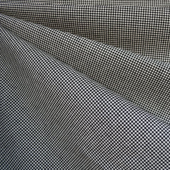 Mini Houndstooth Bottom Weight Black/Vanilla SY - Selvage Yard - Style Maker Fabrics