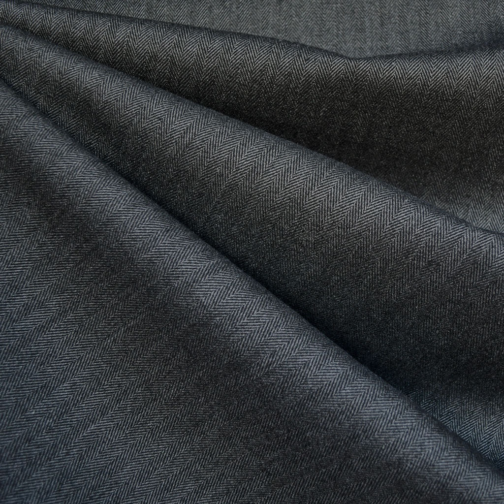 Wide Herringbone Woven Suiting Charcoal - Fabric - Style Maker Fabrics